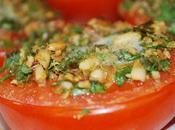 Demi tomates cuites gremolata pignons grillés