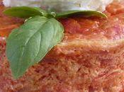 Flans Tomate Sorbet Chèvre
