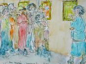 Visite guidée musée dessin aquarellé