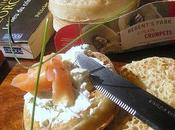 Crumpets fromage herbes saumon