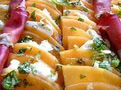 Carpaccio Melon, Mozzarella, Basilic Jambon