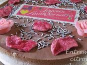 Entremets croustillant mousse citron chocolat rose Provins