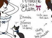Pénélope Jolicoeur joue vamp vintage pour Etam Lingerie
