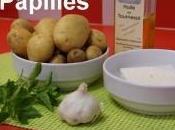 Pommes terre nouvelles basilic menthe
