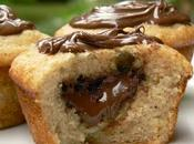 Muffins banane coeur nutella