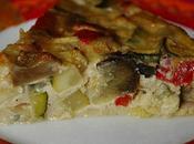 Clafoutis légumes d'été, chèvre basilic