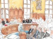 Noëlle Herrenschmidt reporter aquarelliste dessinatrice d'audience procès Clearstream