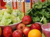 Salade d'épinards pommes pamplemousse