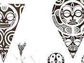 Motif Tatouage Polynésien.
