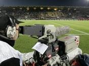 Télévision Lyon Stade Rennais devant caméras Canal
