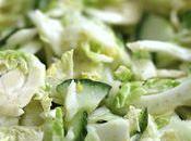 Salade fenouil, concombre choux Bruxelles