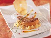 Foie gras canard poêlé pommes, d'agrumes Porto blanc
