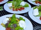Salade gésiers oeufs pochées