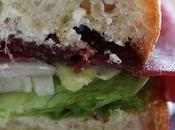 Sandwich Bresaola, fromage raifort fenouil croquant