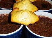 Petits pots crème façon laitière, chocolat noir gingembre