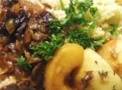 Roti porc pommes-pruneaux