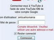 compte YouTube désactivé
