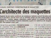 Claude Faivre, l'architecte maquette