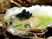 Huîtres mousse persil