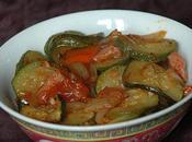Courgettes tomatées épicées jambon Bayonne
