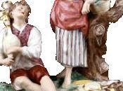 Statuettes céramique XVIIIe siècle