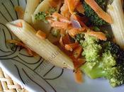 Penne brocolis carottes with broccoli carrots