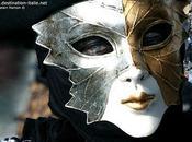 masques Carnaval rouge noir