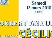 Concert annuel fanfare Cécilia