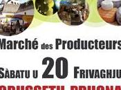 Nouveau Marché Producteurs aujourd'hui Ajaccio.
