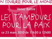 mars: Tambours pour paix (invitation)