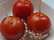 Petits pics apéro Tomate cerise caramélisée graines sésame