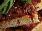 Pizza tomates confites basilic