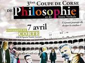 3ème Coupe Corse Philosophie tiendra mercredi Avril 15h30 l'Université Corse.