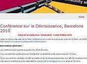 Conférence Décroissance, Barcelone 2010