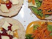 """Sandwich végétarien """"façon hamburger""""."""