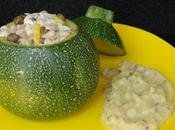 Courgettes farcies aile raie câpres citron
