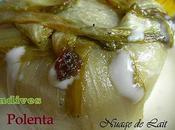 Polenta Endives Roquefort; Crème Roquefort