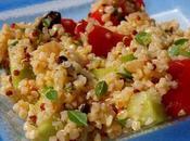 Taboulé deux quinoas basilic grec