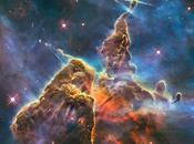 Hubble exploration pilliers dans nébuleuse Carène