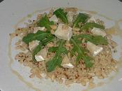 Quinoa gourmand roquette façon biquette