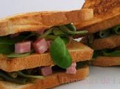 Sandwich Jambon Haricots verts.