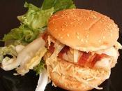Hamburger cabillaud lardé coleslaw