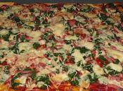 Pizza épinards bacon