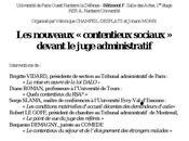 nouveaux contentieux sociaux devant juge administratif (Séminaire, CREDOF, droit Nanterre, Jeudi juin 17h30-20h)