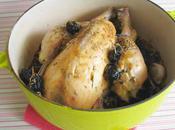 Poulet farci l'ail olives parfumé romarin