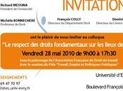 respect droits fondamentaux lieux travail (Colloque Faculté droit Evry/ Centre Léon Duguit, 2010)