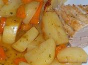 Filet mignon pommes terre carottes