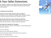 Safari développeurs peuvent soumettre leurs extensions