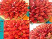 Tarte fraises, crème pistache