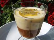 Panna cotta fruits passion confiture lait